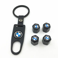 4x BLACK Styling Car Wheel Tire Tyre Valve Air Caps for BMW Metal Cover Auto Set