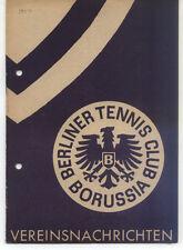 Tennis Borussia Berlin - Vereinsnachrichten - Januar / Februar 1954