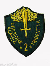 Patch 2 Divisione Alpini Tridentina Esercito Toppa per Mimetica Vegetata Militar
