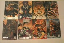 8 Collector Cards - AMALGAM COMICS - Good Condition