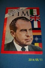 1969 TIME Magazine RICHARD NIXON No Label NIXON'S TRIP The Stakes In Europe N/L