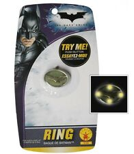 FREE SHIP Batman The Dark Knight Metal Costume Light Up Ring Toy Halloween