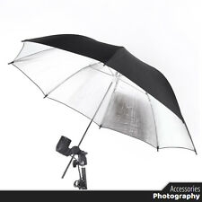 Photography - Umbrella Flash Light Reflective Black / Silver - for Photo Studio