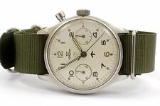Lemania Military Chronograph Watch Single Pusher HS9 - 1960's