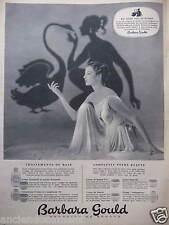 PUBLICITÉ 1955 BARBARA GOULD EN ROUTE VERS LA BEAUTÉ CRÈME LOTION - ADVERTISING