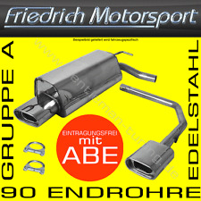 FRIEDRICH MOTORSPORT V2A SPORTAUSPUFF DUPLEX VW GOLF 4 CABRIO 98-02