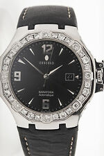 $15,000 7ct VS G Diamond CONCORD Saratoga Automatic Mens Dress Watch