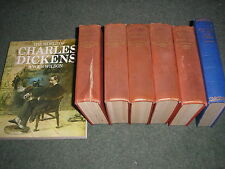 LOT OF 6 VINTAGE CHARLES DICKENS NOVELS+WORLD OF CHARLES DICKENS-ALL PICTURED
