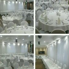 White Or Black spandex Chair  Covers for Hire