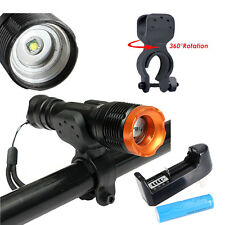 9000LM T6 LED Zoomable Flashlight Light Torch Lamp +18650 Battery +Charger