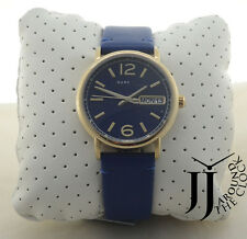 New Marc by Marc Jacobs Watch Fergus Nave Blue Leather White Dial Watch MBM8650