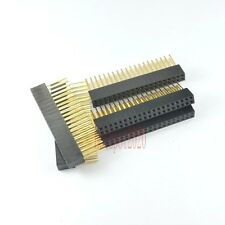 10pcs 2.54mm 2x20 40pin Double Row Female stackable Straight Header socket Strip