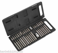 40 PIECE TORX STAR ALLEN HEX SPLINE BIT SOCKET ADAPTOR TOOL SET GARAGE TOOLS