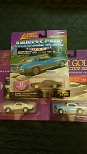 Johnny Lighting Muscle & Classic Gold Cars 71 Pontiac 65 Shelby 56 Bel Air