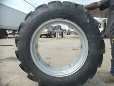 (2) 12.4x28 FORD JUBILEE 2N 8N Tractor Tires w/ Wheels & (2) 550x16 3 rib w/tube