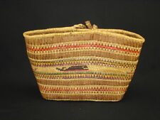 A Large Makah Woven Basket, Native American Indian, Circa: 1910