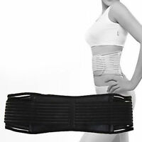 Magnetic Infrared Double Pull Back Support Lumbar Brace Belt Strap Pain Heat