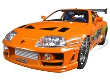 "BRIAN'S TOYOTA SUPRA ORANGE ""FAST & FURIOUS "" MOVIE 1/18 BY JADA 97505"