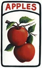 "3 1/4x5 1/2""  Country primitive wood APPLE kitchen wall home decor sign plaque"