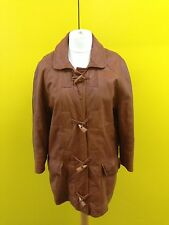 Womens Toff London Leather Duffle Coat - Uk12 - Tan - Great Condition