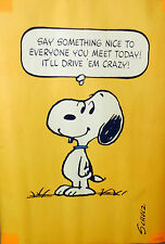 CHARLIE BROWN CHARLES SCHULZ Poster Peanuts Snoopy SAY SOMETHING NICE....20x28