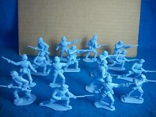 1/32 Timpo Civil War Union Toy Soldiers in light blue color 16 in 4 poses
