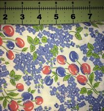 Vintage Feedsack Quilt Red And Blue Floral Pattern 40s Flour Sack Material
