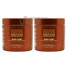 "Mizani Iron Curl Heat Styling and Curling Cream 5.2oz ""Pack of 2"" Free Body Oil"