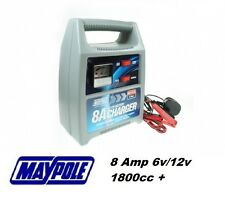 Maypole 8A 8 Amp 6V/12V 1800CC+ Car Van Motorcycle Boat Battery Charger #7418
