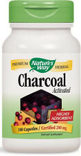 Charcoal Activated - 100 Capsules - Nature's Way