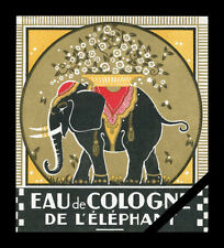 Vintage French Perfume Soap Label Antique Eau De Cologne De L' Elephant France