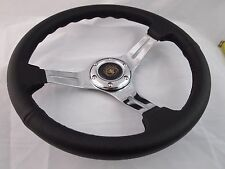 UNIVERSAL STEERING WHEEL 350MM CLASSIC PVC BLACK CHROME SPOKE