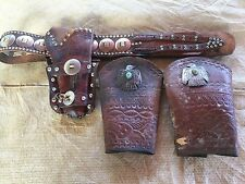 R.T. Frazier Holster/gun Belt/Cowboy Cuffs Wild West Show Antique Vintage DG1000