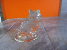 Glass CAT Figurine Paperweight ?