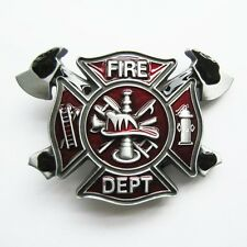 BRAND NEW FIRE FIGHTER BELT BUCKLE LOGO WITH AXES