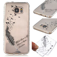 AntiSlip Feather Rubber Soft TPU Phone Back Case Cover For All mobile phones