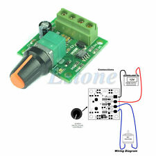 DC 1.8V 3V 5V 6V 12V 2A Low Voltage Motor Speed New Controller PWM 1803B - UK