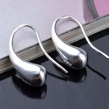Bijoux élégant Teardrop Crochet Boucles d'oreilles en argent