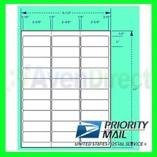 "6000 Address Labels White Laser Inkjet 1""x2-5/8"" #5160 Fast USPS Priority Mail"