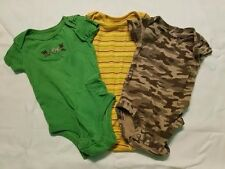 Carter's Baby Infant Boy One Piece Clothing Lot, 3 Month, Green, Yellow, Camo