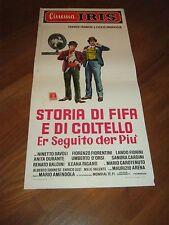 LOCANDINA, S/5, STORIA DI FIFA E DI COLTELLO FRANCO FRANCHI E CICCIO INGRASSIA