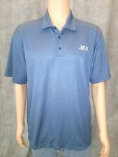 NIKE GOLF mens DRY FIT polo shirt-sz XL-blue-100% polyester
