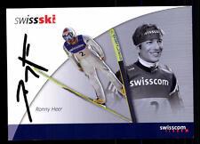 Ronny Heer Autogrammkarte Original Signiert Skispringen + A 107503
