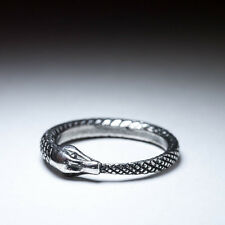 Ouroboros Ring, sterling silver, size 17mm / US 6.5 (customizable), handmade