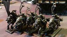 Warhammer Fantasy Chaos Marauders of Chaos Mounted (5 ) OOP w banner