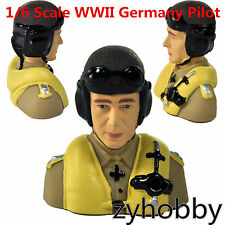 Miracle Hobby Accessories 1/6 Scale WWII Germany Pilot For RC Airplane Aircraft