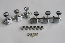 Chrome Vintage 3 on a Plate 3x3 Guitar Tuning Keys Tuners for Les Paul SG JR