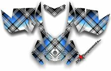 SKI DOO REV XP SNOWMOBILE SLED GRAPHICS DECAL STICKER KIT PLAID BLUE BLACK WHITE