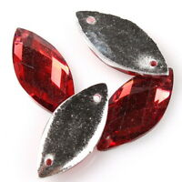 100pcs 24732 Rhinestone Crystal New Red Sew-on Charms Resin Flatback Buttons