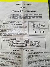 LIONEL 3330 submarine car instructions